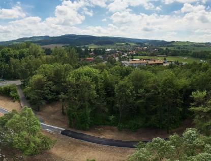 Stavba cyklostezky do Hrachovce  finišuje