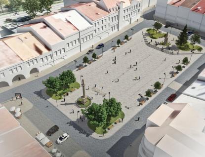Revitalizace náměstí odstartovala přípravnými pracemi